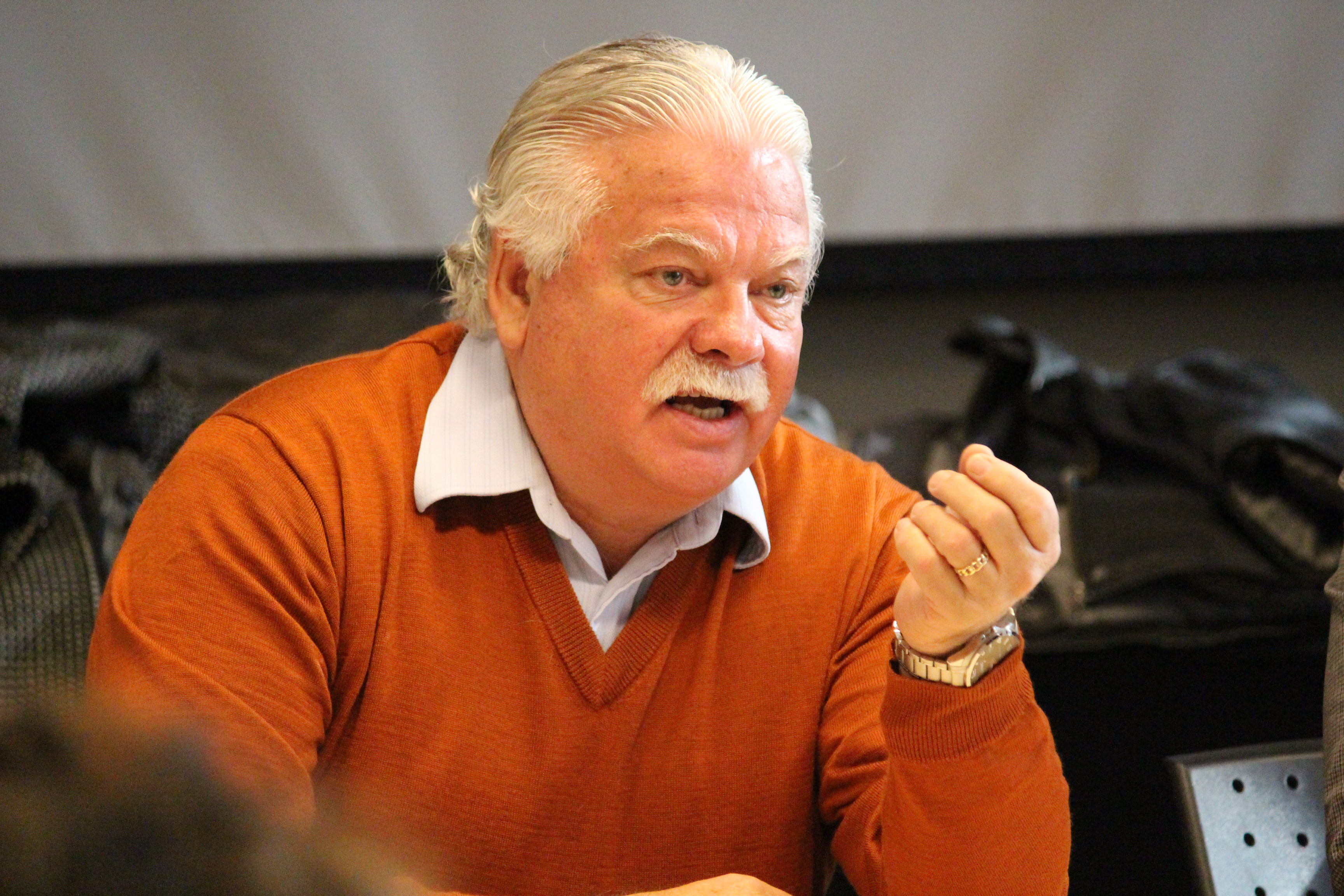 Windsor-Tecumseh NDP MPP Percy Hatfield expresses concern over cuts to the CCAC. (Photo by Jason Viau)