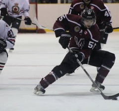 The Chatham Maroons take on the Sarnia Legionnaires, November 6, 2014. (Photo courtesy of Jocelyn McLaughlin)