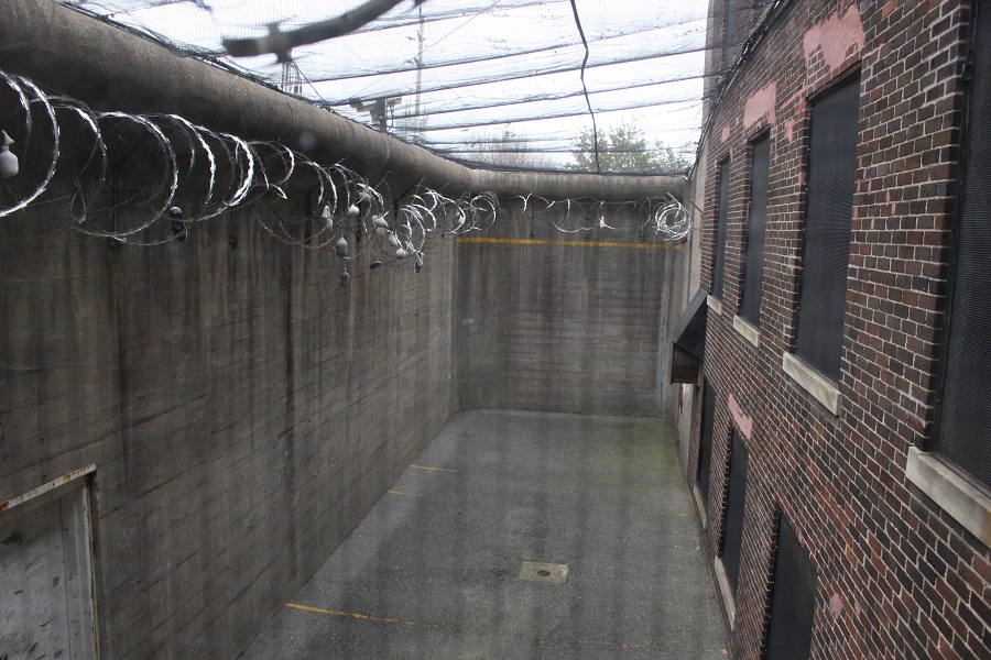 Outdoor space at the Windsor Jail. Inmates were given 20 minutes a day outside. (Photo by Maureen Revait)