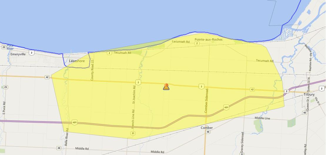 A power outage has 3,175 Hydro One customers in the dark. (Photo courtesy of hydroone.com)