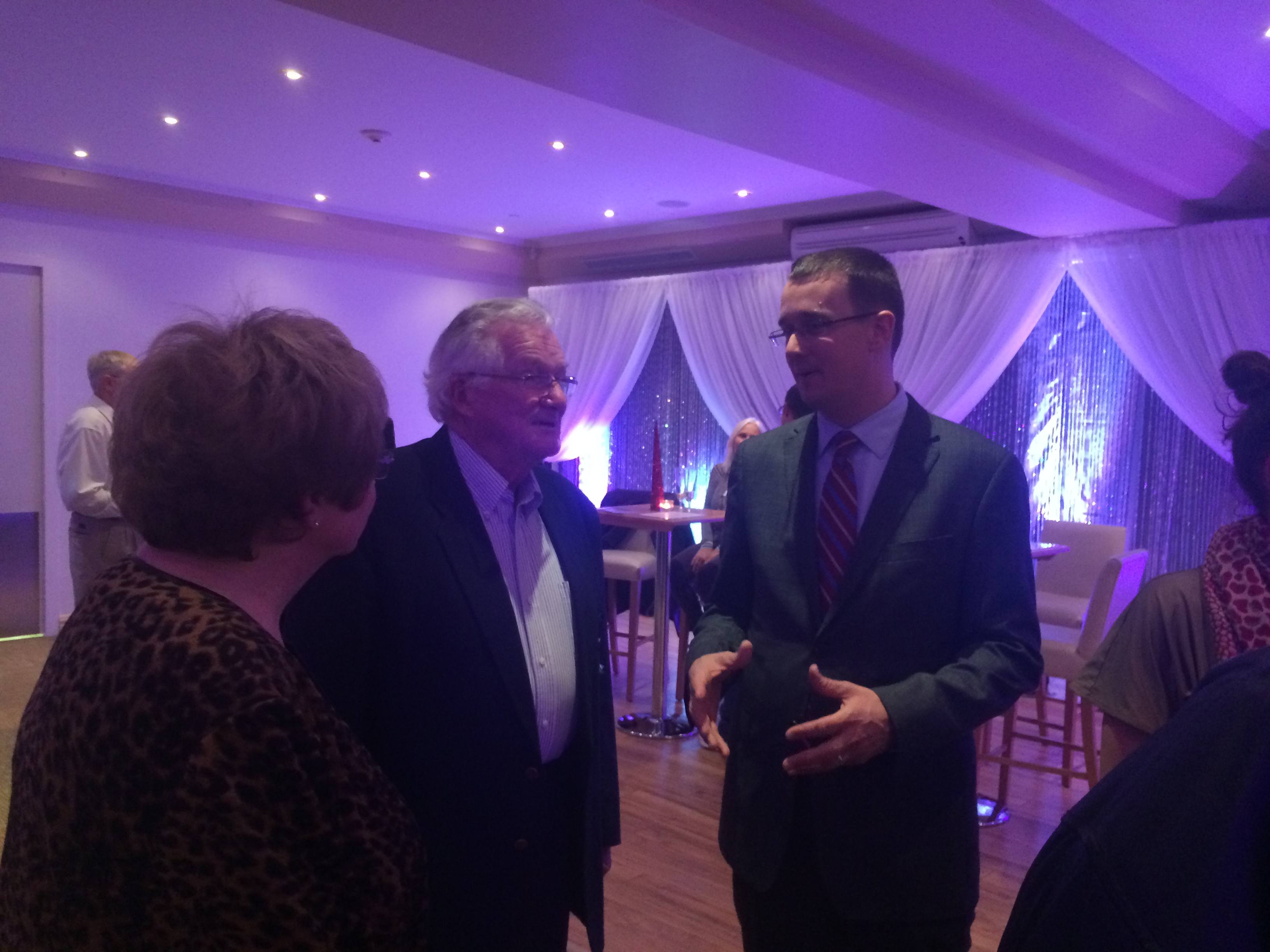 MPP and Ontario PC Party leadership candidate Monte McNaughton attends a meet and greet event in Chatham on November 24, 2014. (Photo by Ricardo Veneza)