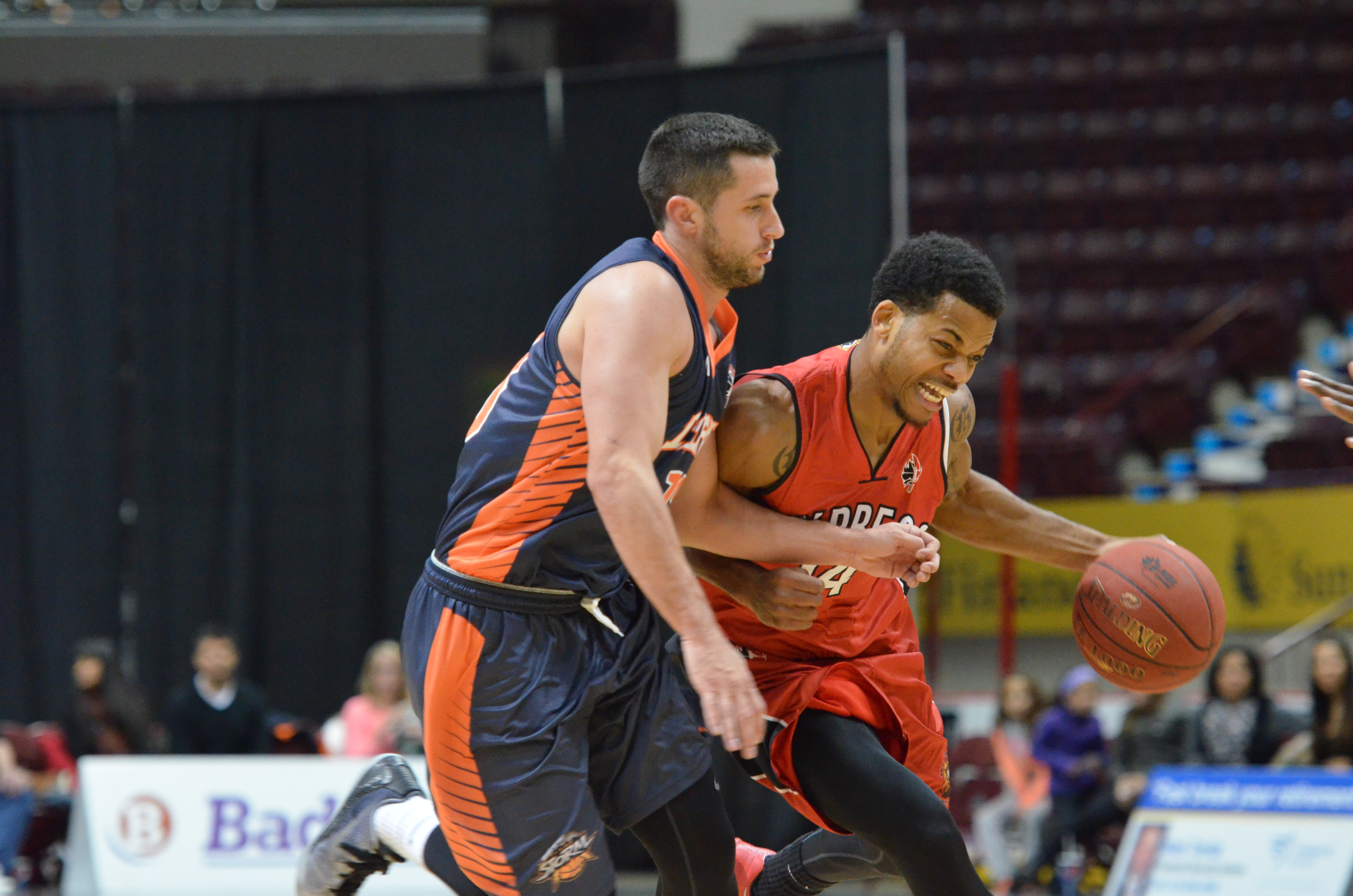 The Windsor Express take on the Island Storm at the WFCU Centre, November 13, 2014. (Photo courtesy of the Windsor Express)