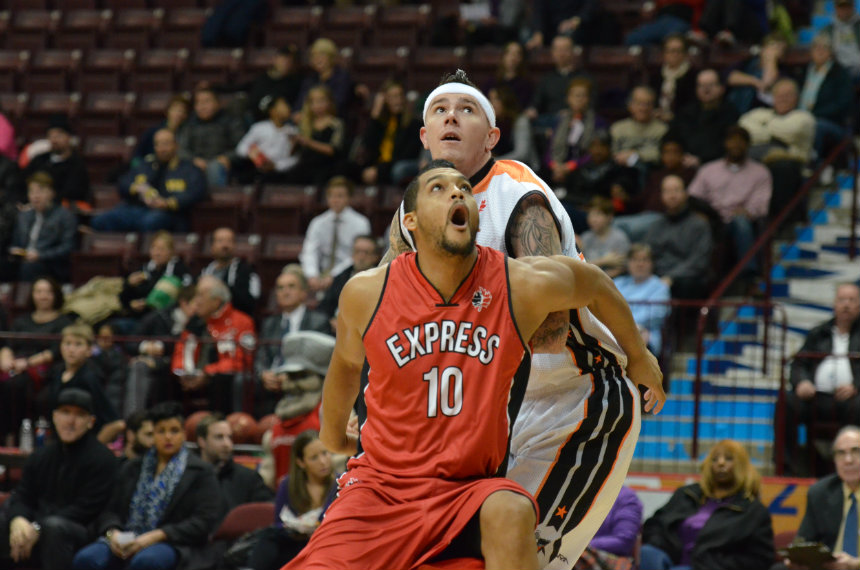 The Windsor Express take on the Moncton Miracles at the WFCU Centre, November 26, 2014 (Photo courtesy of the Windsor Express)