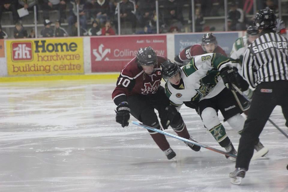 The Chatham Maroons take on the St. Thomas Stars, December 21, 2014. (Photo courtesy of Jocelyn McLaughlin)