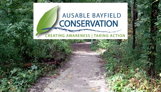 Ausable Bayfield Conservation Authority logo and trail