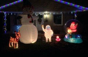 A Sarnia home decked out with lights for Christmas. (BlackburnNews.com photo by Melanie Irwin)