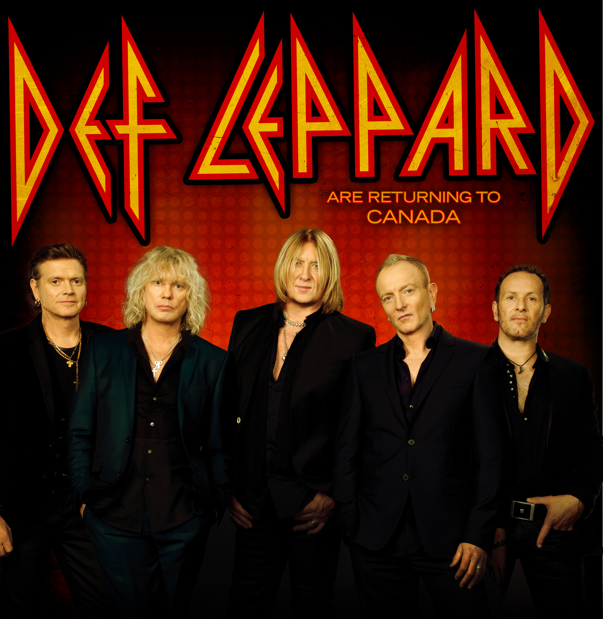 official tour photo for Def Leppard