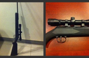 Chatham-Kent police seize this high powered pellet gun from a man on December 15, 2014. (Photo courtesy Chatham-Kent police)