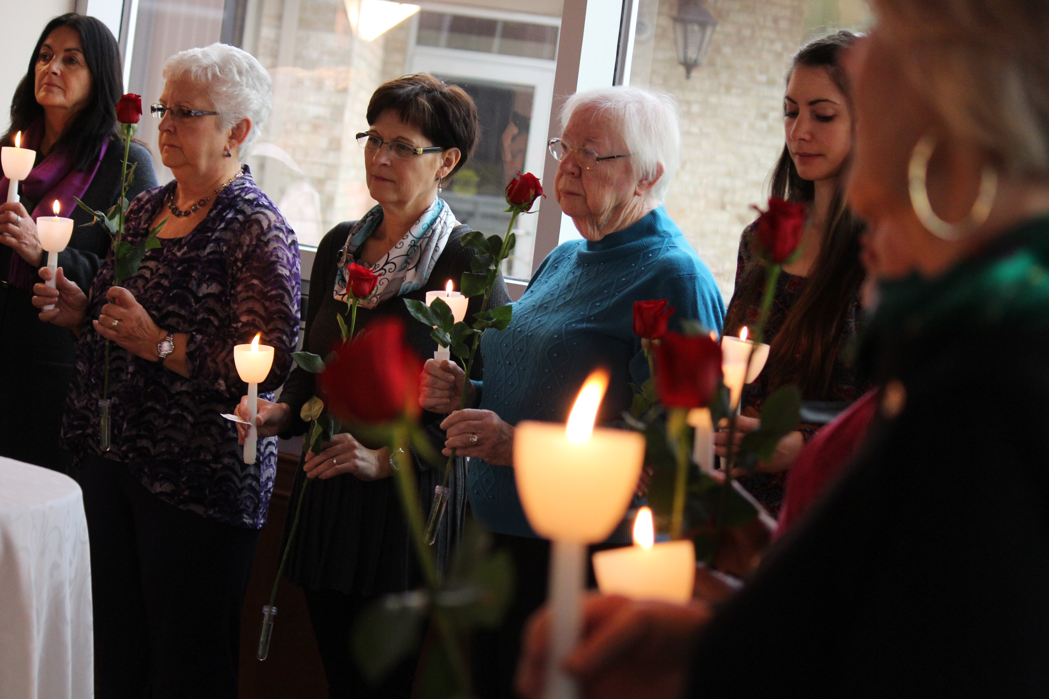 A ceremony remembering the 14 women killed in the Montreal Massacre was held in Chatham on December 6, 2014. (Photo by Jason Viau)