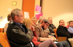 Parents and other community members attend the December 9, 2014 meeting of the GECDSB. (Photo by Ricardo Veneza)