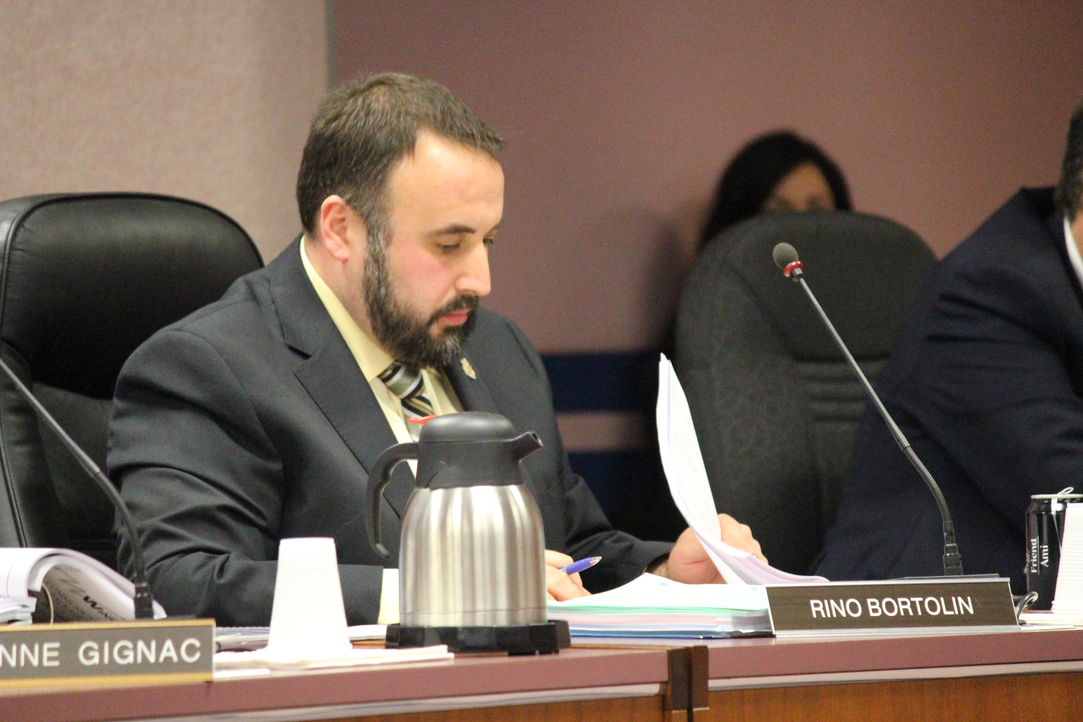 Windsor City Councillor Rino Bortolin, December 15, 2014. (photo by Mike Vlasveld)