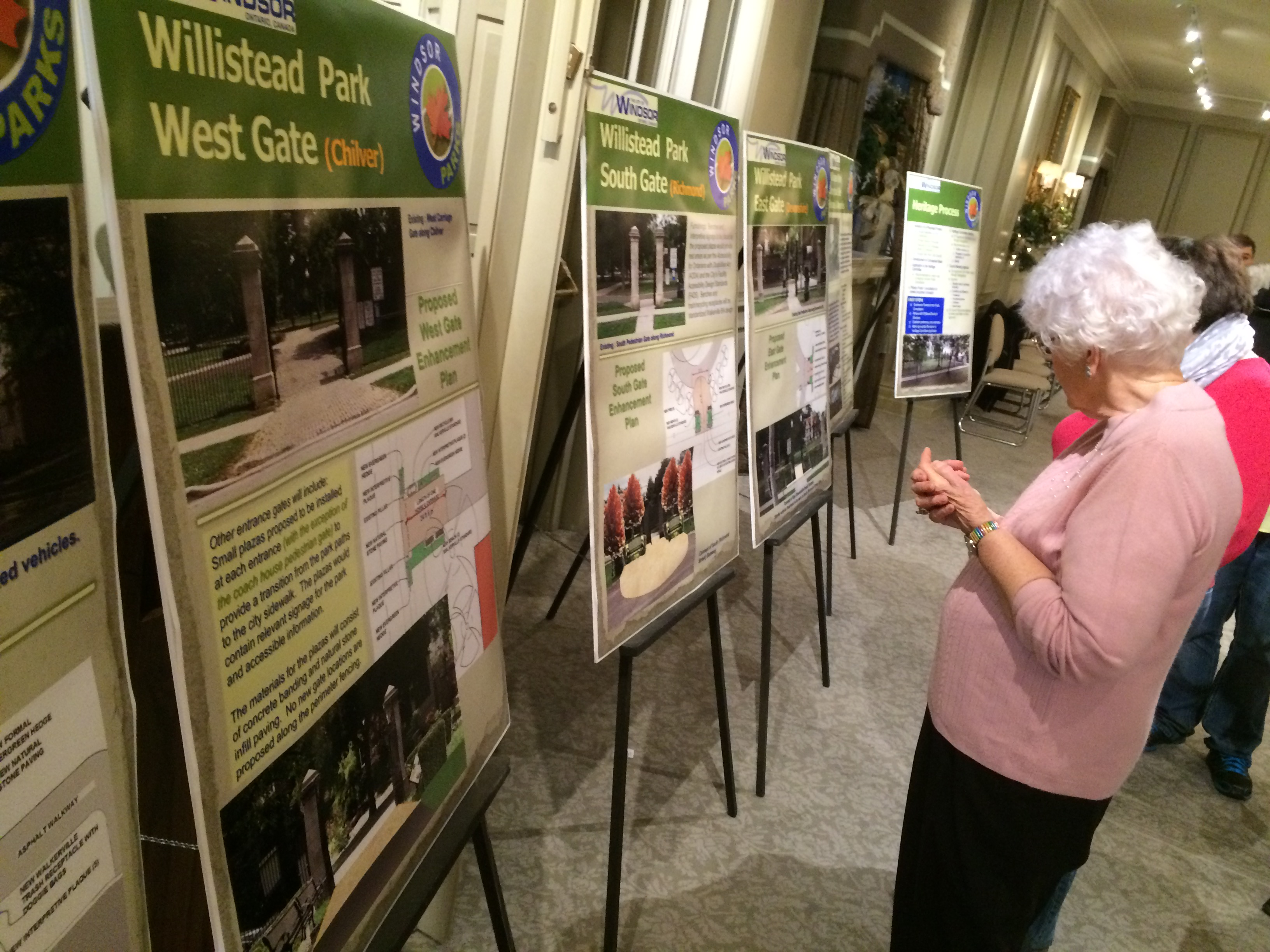 Residents attend an open house on December 9, 2014 to see the city's planned improvements for Willistead Park. (Photo by Jason Viau)