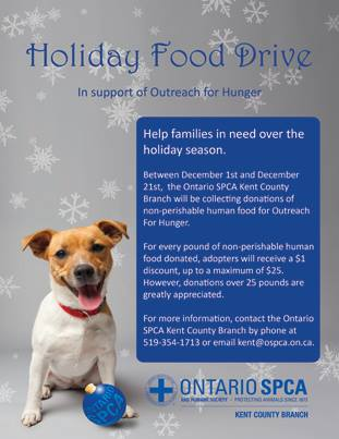 The OSPCA food drive is underway (Photo courtesy of OSPCA via Facebook)