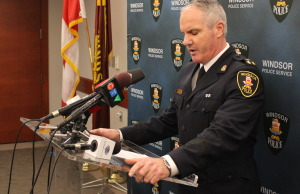 Windsor Police Deputy Chief Vince Power, December 22, 2014. (photo by Mike Vlasveld)