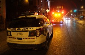 BlackburnNews.com file photo of a Windsor police cruiser and Windsor fire truck. (Photo by Mike Vlasveld)