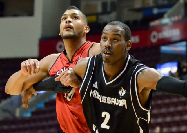 The Windsor Express take on the Mississauga Power, December 7, 2014. (Photo courtesy of the Windsor Express)