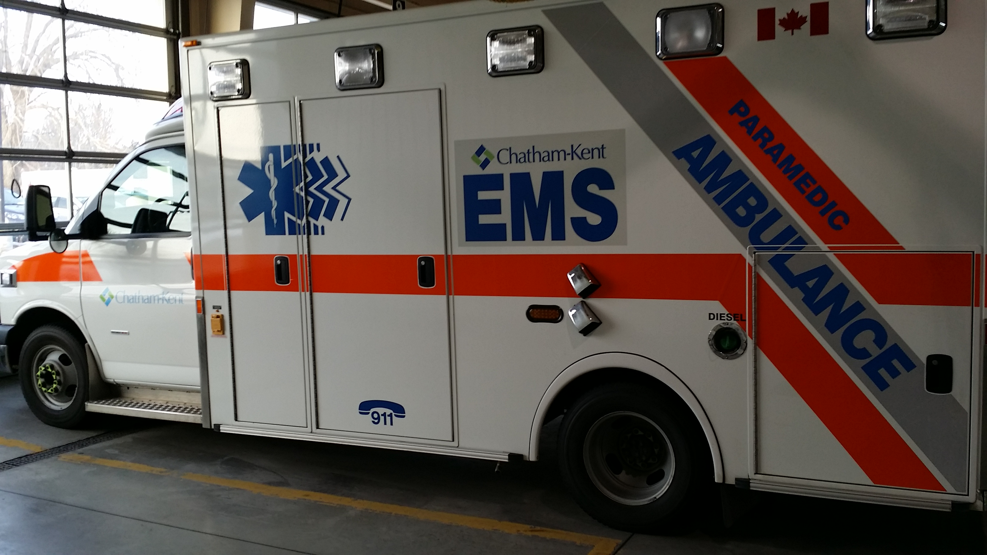 A Chatham-Kent Fire and Emergency Services Ambulance (Photo by Jake Kislinsky)