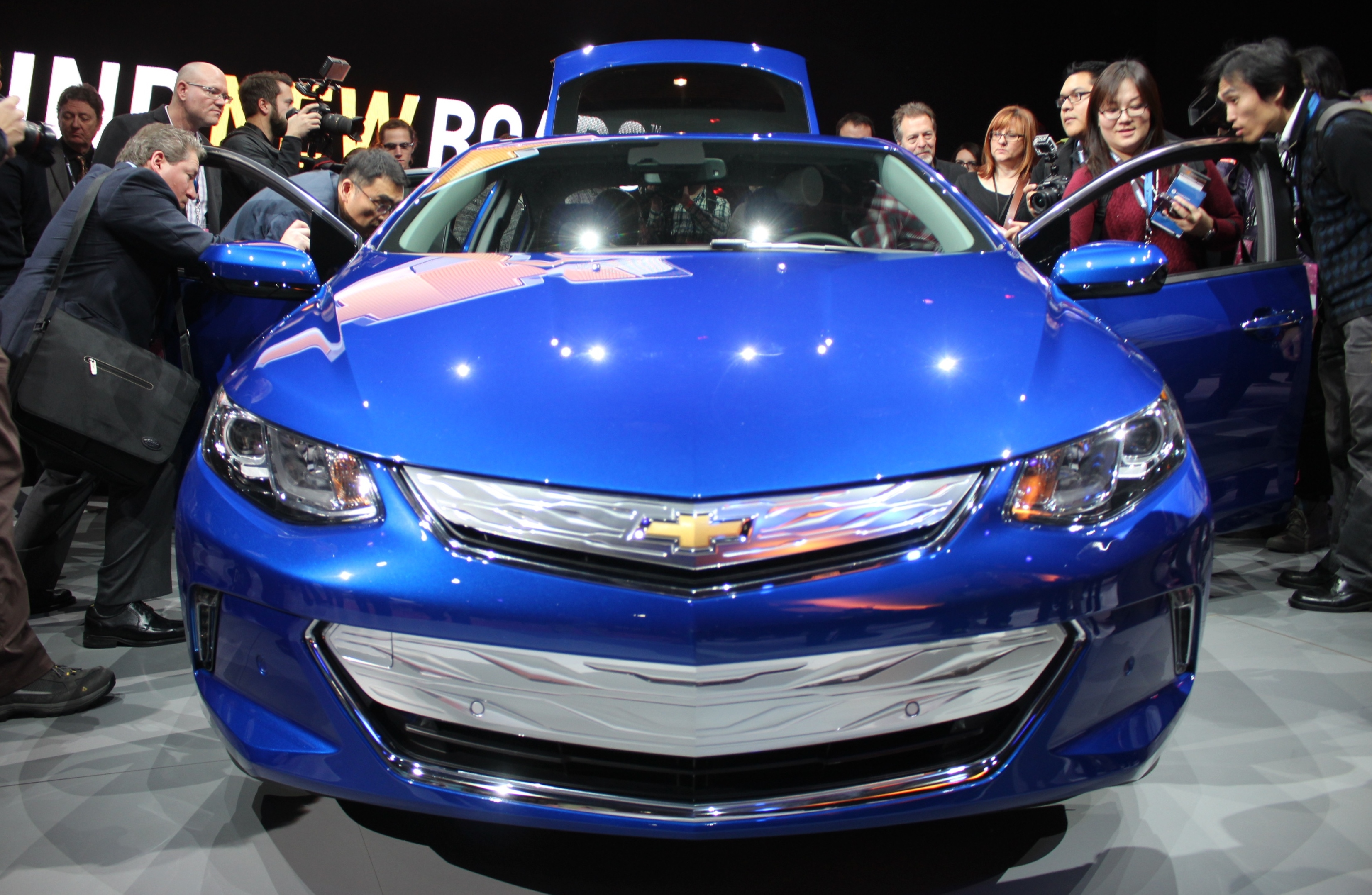 One of the many new model cars on display at this years North American International Auto Show in Detroit, January 12, 2015. (photo by Mike Vlasveld)