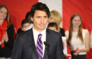 Federal Liberal Leader Justin Trudeau speaks at a rally in Windsor on January 21, 2015. (Photo by Jason Viau)