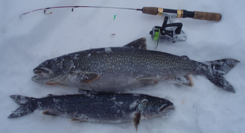 Ice fishing safety tips for Ice fishing lake trout