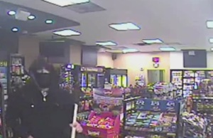 Windsor police-obtained surveillance video at Mac's Convenience on Mill St. shows this robbery suspect, January 13, 2015. (Photo courtesy Windsor police)