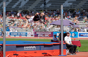 Axel Jacquesson competes in the men's high jump during the French Athletics Championships 2013 at Stade Charléty in Paris, 14 July 2013. (Photo by Marie-Lan Nguyen via commons.wikimedia.org)
