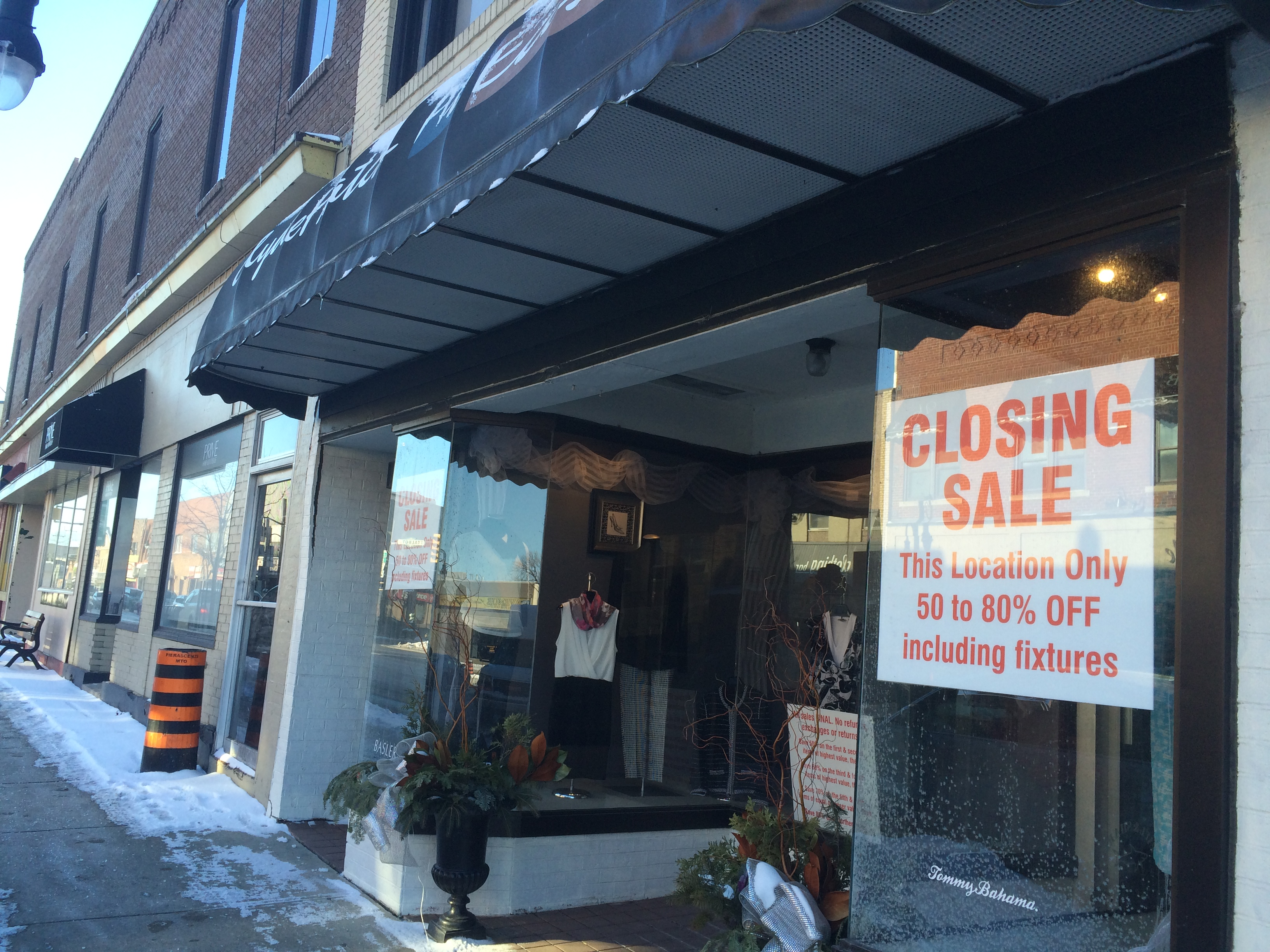 The Leamington location of Clyde Hatch At Ease is seen on January 13, 2015. The store is set to close after over 90 years in uptown Leamington. (Photo by Ricardo Veneza)