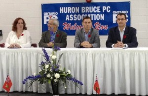 Lisa MacLeod, Vic Fedeli, Patrick Brown and Monte McNaughton on hand in Wingham vying for leadership of the Ontario PC Party.