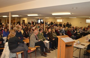 More than 300 supporters of the restorative care unit in Chesley onhand at the Elmwood Community Centre.