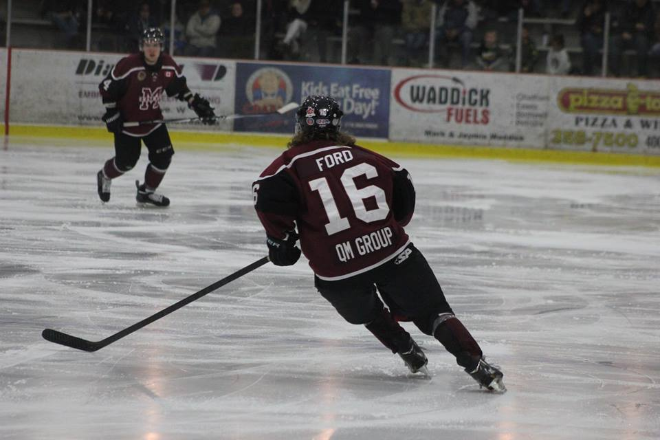 The Chatham Maroons take on the Strathroy Rockets, February 8, 2015. (Photo courtesy of Jocelyn McLaughlin)