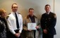 Chatham-Kent paramedic Paul Tremblay receives recognition at the Chatham-Kent Police Board meeting on February 17 2015 (Photo by Jake Kislinsky).