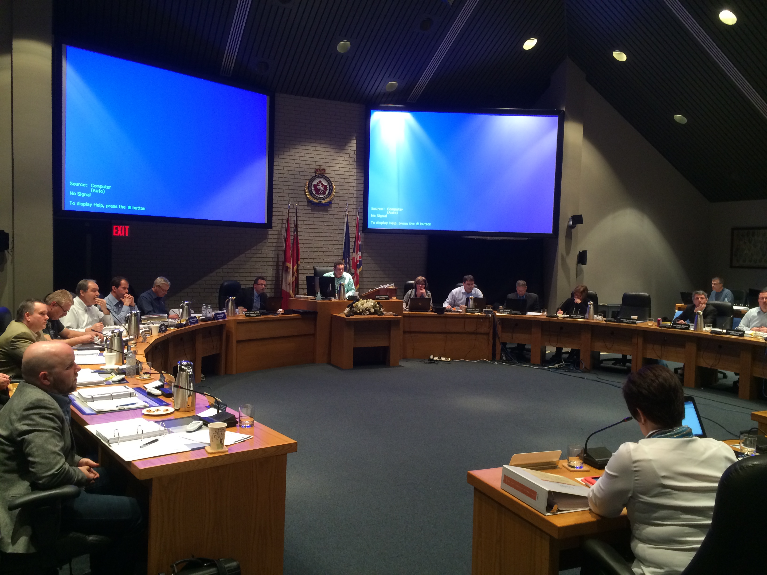 The 2015 budget committee for Chatham-Kent meets for the third day of deliberations on February 5, 2015. (Photo by Ricardo Veneza)