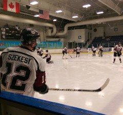 The Chatham Maroons take on the London Nationals in London on February 18 2015. (BlackburnNews.com file photo)