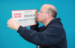 Michael Schlater of Leamington has won $250,000 by playing OLG's Instant Cadillac Riches. (Photo courtesy OLG)