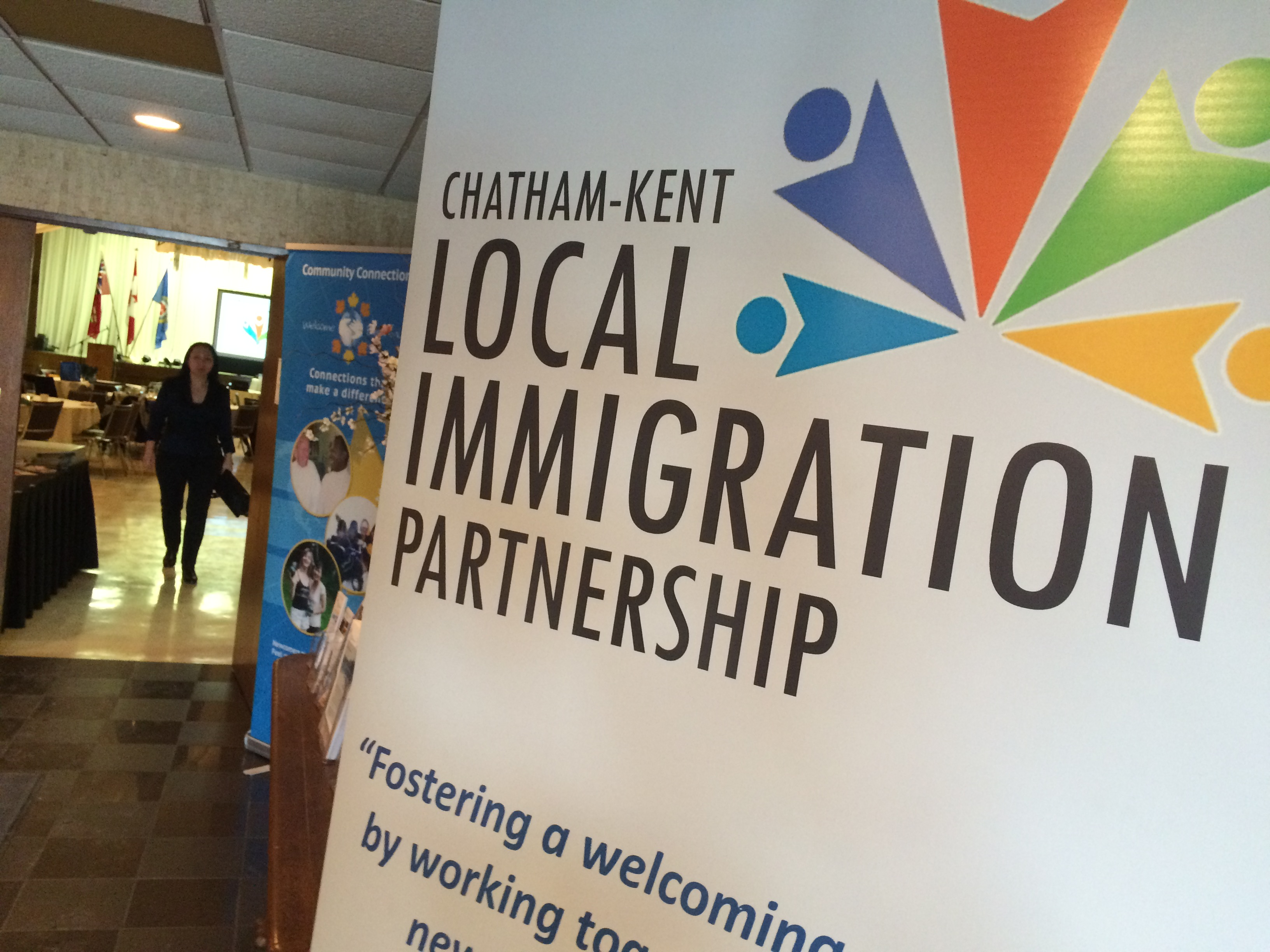 The Chatham-Kent Local Immigration Partnership holds a commUNITY Connections Forum at Club Lentinas on February 11, 2015. (Photo by Jason Viau)