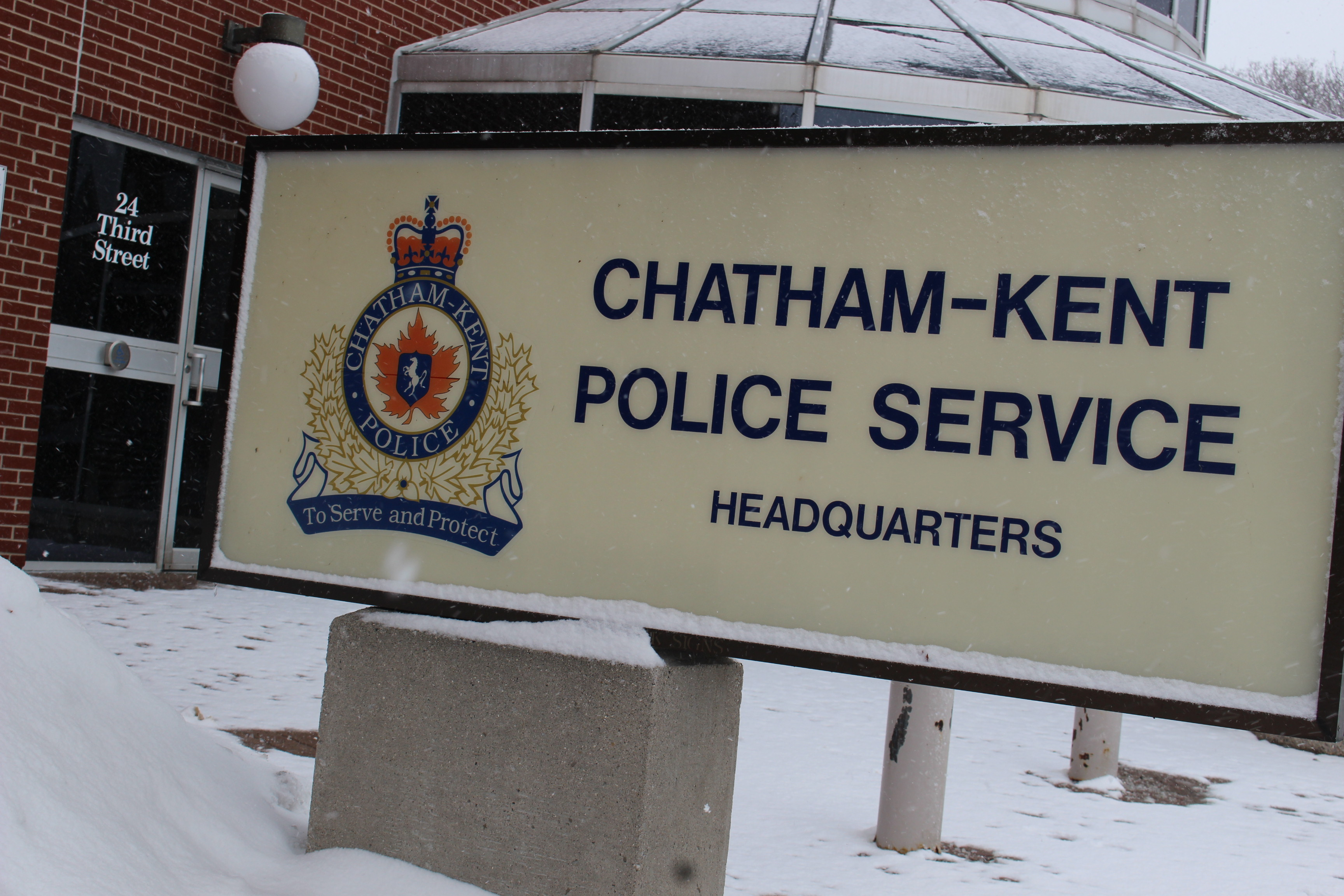 BlackburnNews.com file photo of the Chatham-Kent Police Service Headquarters. (Photo by Jason Viau)