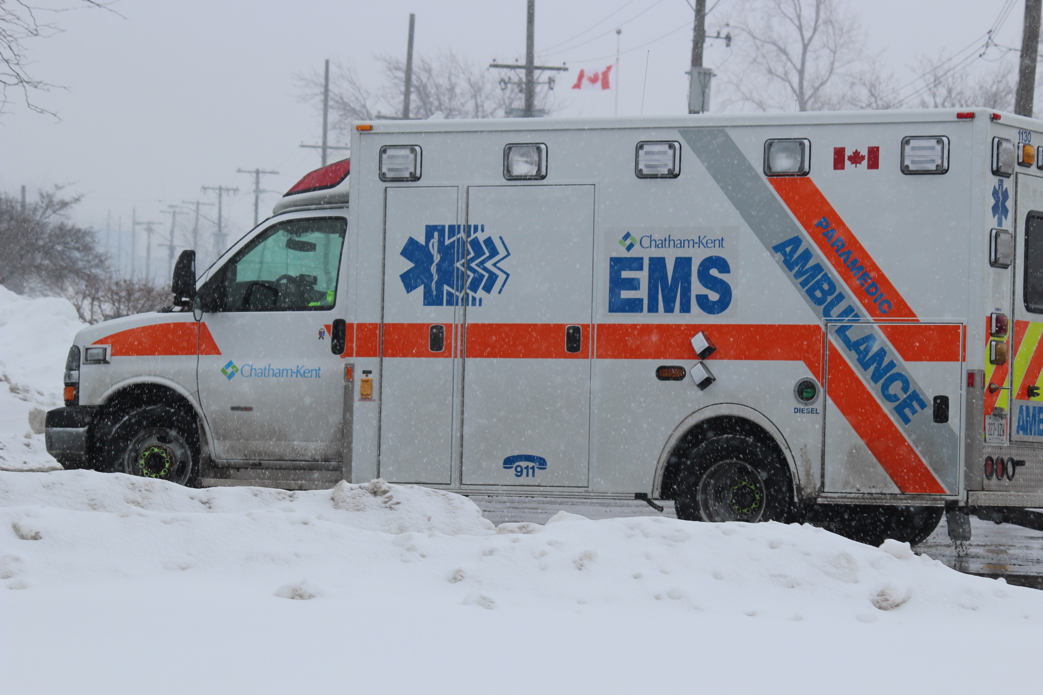 BlackburnNews.com file photo of a Chatham-Kent EMS ambulance. (Photo by Jason Viau)