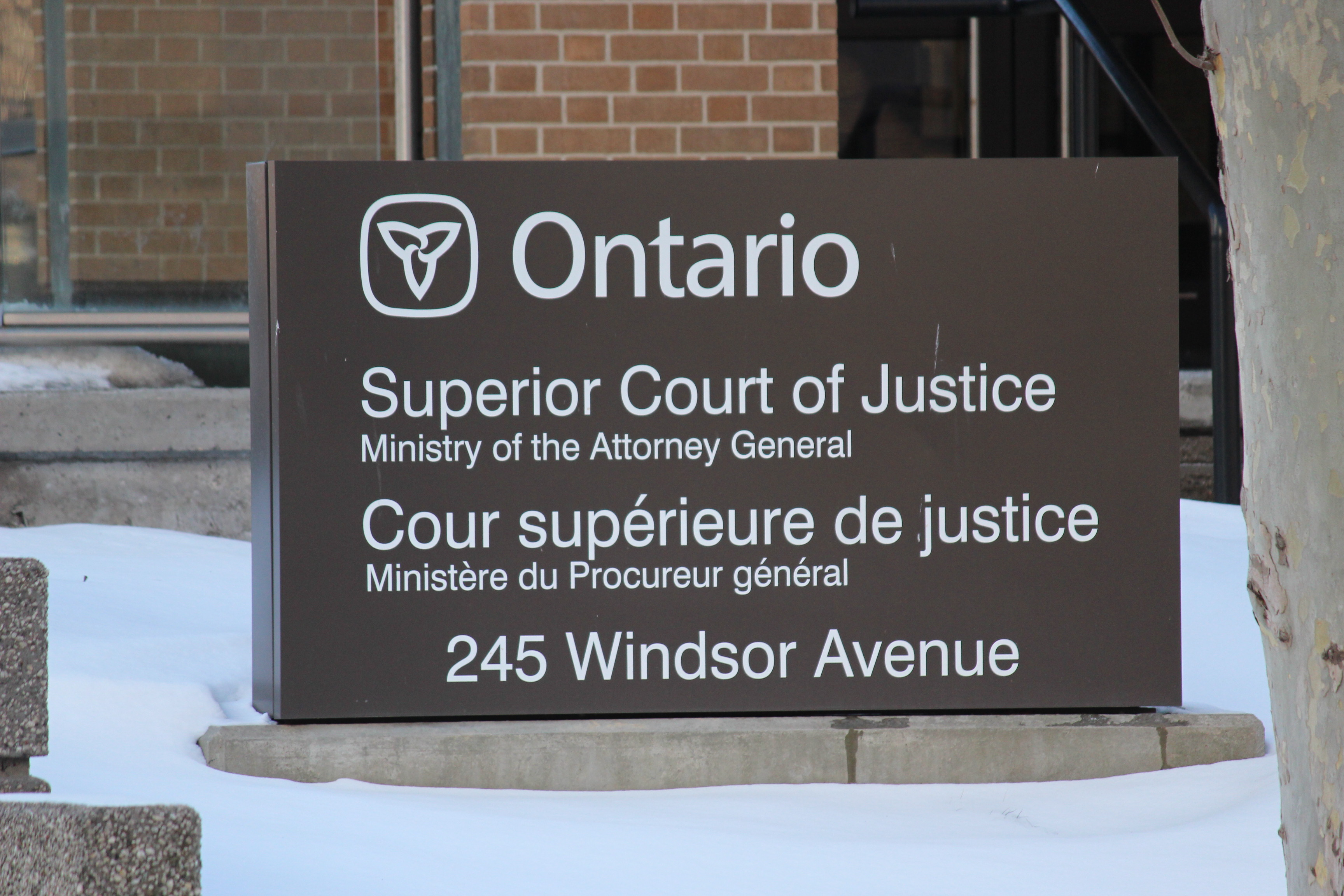 BlackburnNews.com file photo of the Superior Court of Justice. (Photo by Jason Viau)