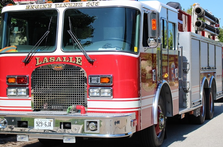 BlackburnNews.com file photo of LaSalle fire truck. (Photo by Maureen Revait)