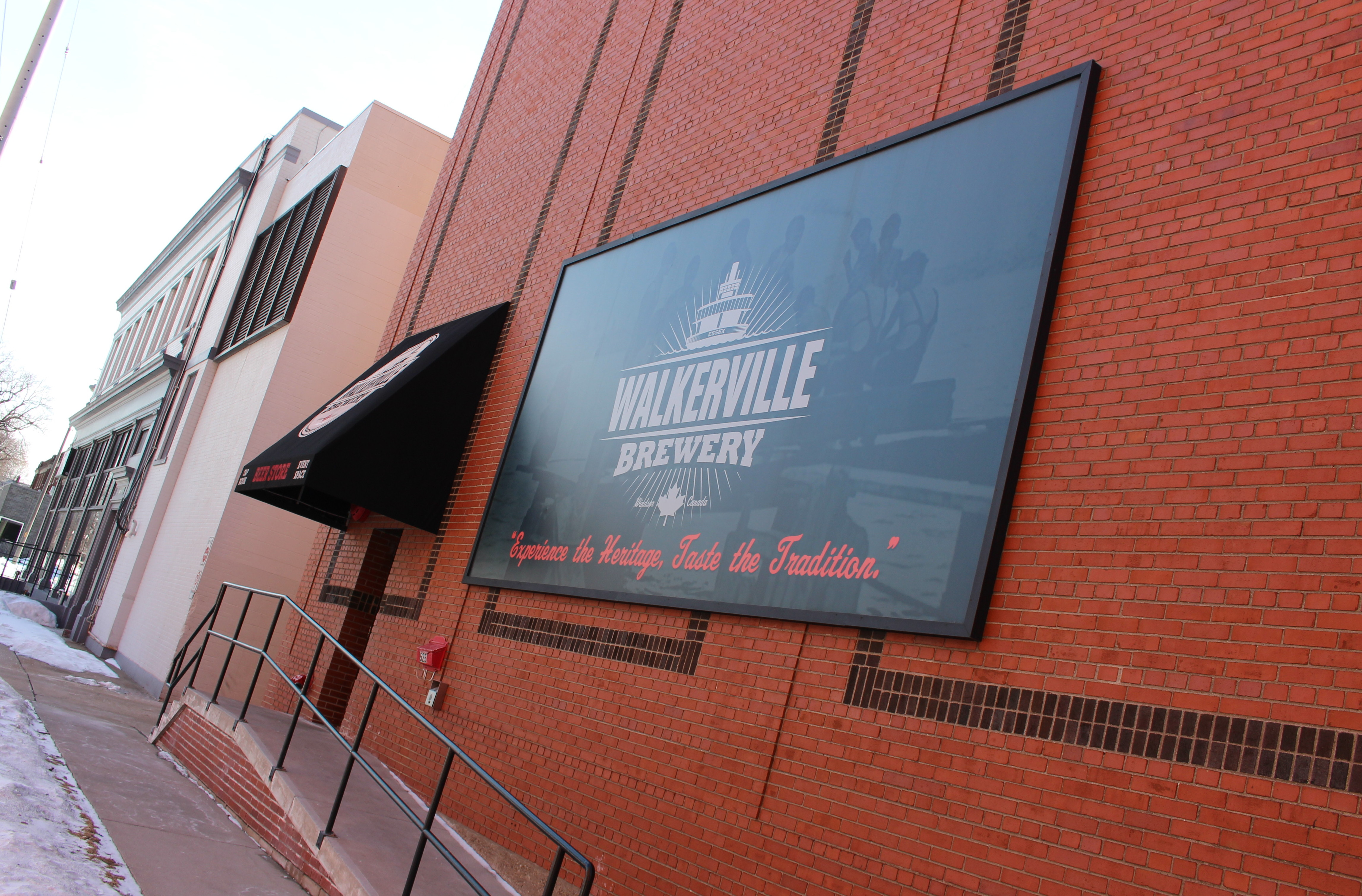 Walkerville Brewery on Argyle St. in Windsor, February 2015. (Photo by Mike Vlasveld)