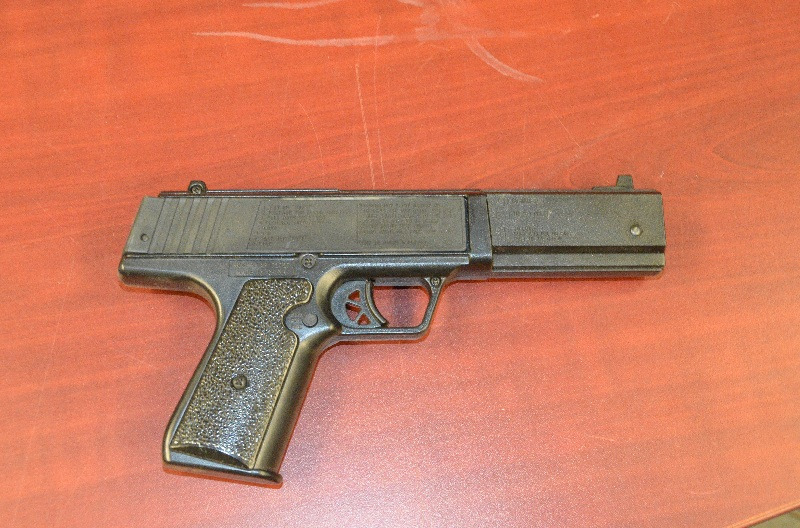 Chatham-Kent police seized this firearm after executing a search warrant at a residence in Chatham. (Photo courtesy of the Chatham-Kent Police Service)