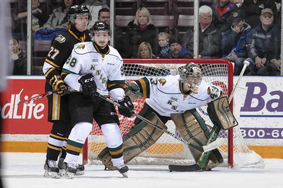 The London Knights take on the Sarnia Sting, February 22, 2015. (Photo courtesy of Metcalfe Photography)