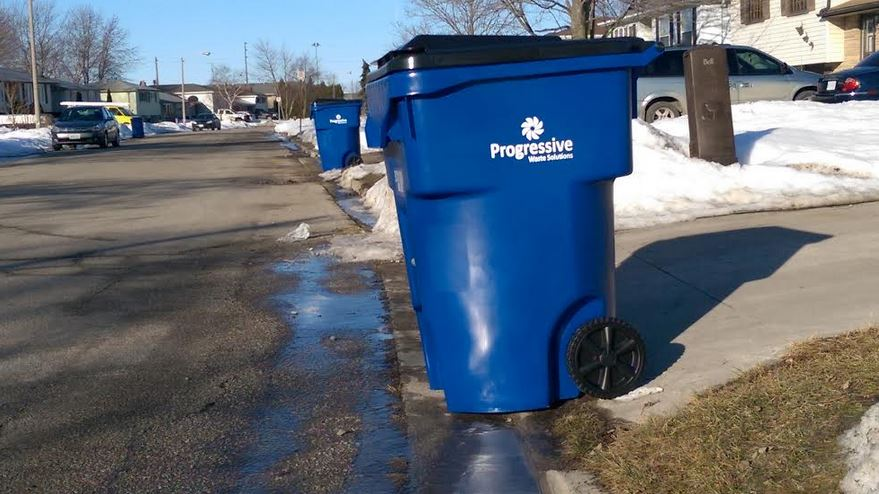 Progressive Waste Solutions has launched a pilot program in both Tilbury and Wallaceburg, dropping off garbage bins on a trial basis with the option to buy. (Photo by Matt Weverink)