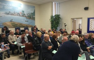Members of the community attend Amherstburg Town Hall as council debates the proposed 2015 budget. (Photo by Ricardo Veneza)