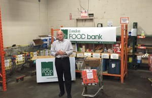 Glen Pearson, Co-Director of London's Food Bank, discusses the need for more local food in the city. Photo by Alec Ross, BlackburnNews.com