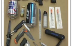 Items Seized At Sarnia Courthouse (Photo submitted by Sarnia Police)