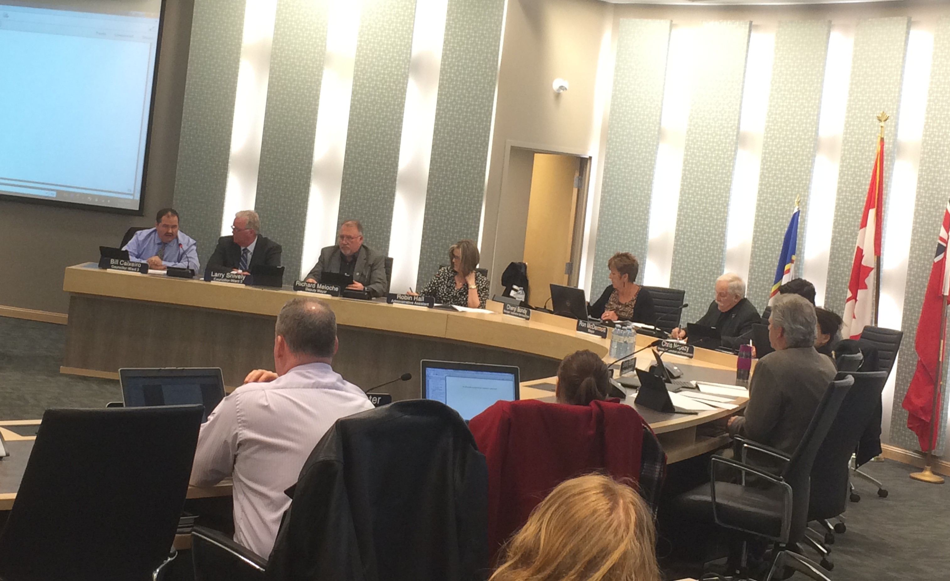 Essex Town Council meets for its regular meeting at the Essex Civic Centre on March 2, 2015. (Photo by Ricardo Veneza)