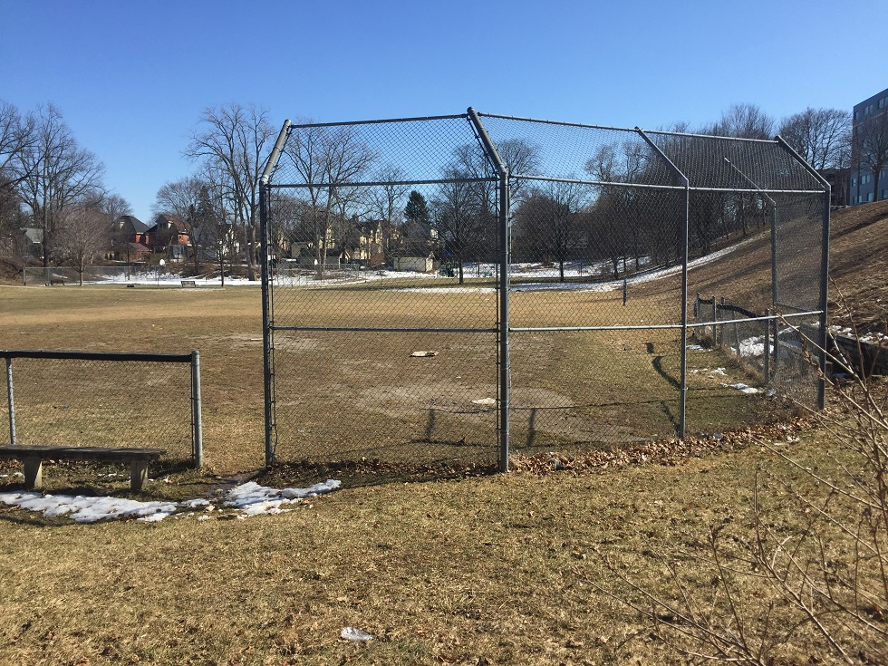 Sports fields in London, like this one, will be open to the public in early May. Photo by Alec Ross, BlackburnNews.com