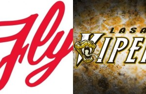Leamington Flyers and LaSalle Vipers logos. (Photos courtesy of Flyers team website and inplaymagwindsor.blogspot.com.)
