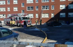 Police and Fire responded to an apartment fire on Queen St. Mar 2-15 Photo From Sarnia Police Via Twitter